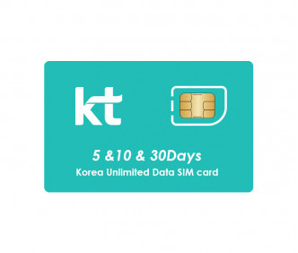 Korea Unlimited Data SIM (KR Airport Pick-up)